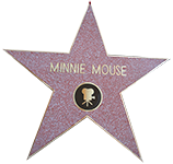 Hollywood-Stern von Minnie Maus