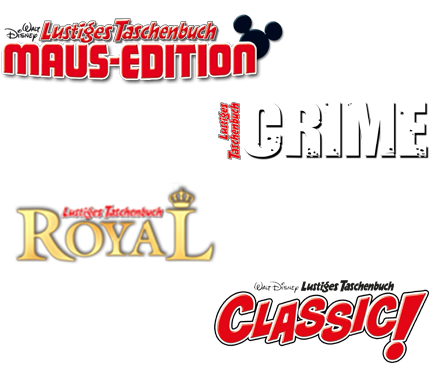 LTB Maus-Edition 12, LTB Crime 8, LTB Royal 6, LTB Classic Edition 6
